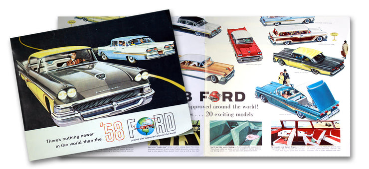 1958 Ford Model Cars Sales Brochure