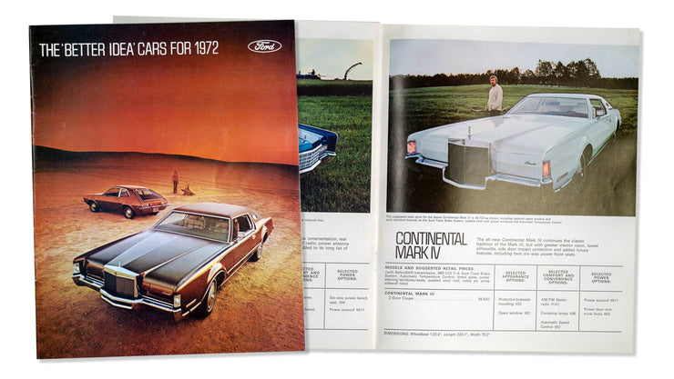 1972 Ford Sales Brochure