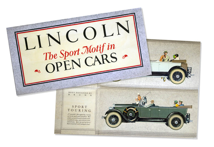 Lincoln Sport Motif Sales Brochure