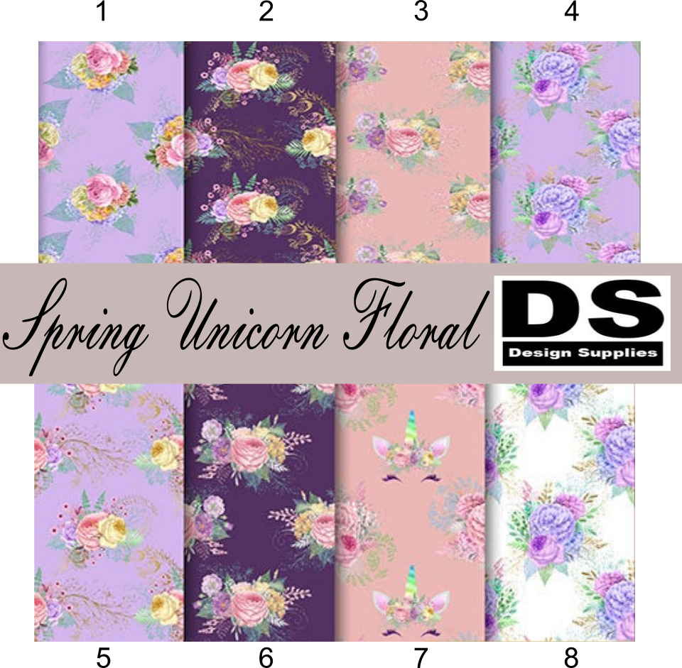 Spring Unicorn Floral