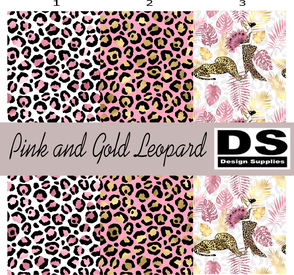 Pink and Gold Leopard