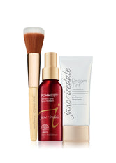 Jane Iredale Power of 3 Dream Tint® Tinted Moisturizer, Blending Brush en Pommisst hydration spray
