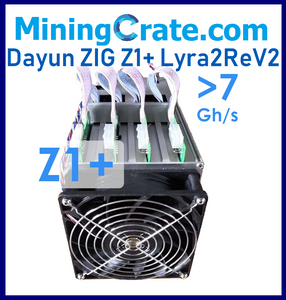 DAYUN ZIG Z1+ 7.2Gh/s ASIC Miner - USA located and shipped NEXT DAY