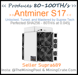 Antminer S17+ PLUS 🔥75TH/s🔥 IN USA - Custom MiningCrate exclusive Tune to 90TH/s UNITS IN USA NOW not oversea order - MiningCrate S17+ BITMAIN FOR SALE
