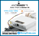 Tuned Antminer T9+ 🔥14TH/s MiningCrate.Com Custom Firmware🔥 2 Stage per chip Tune - Unlocked gets 14TH/s STABLE RELIABLE and at under 1400Watt