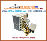 Custom - Antminer S9 DUAL 24TH at 1600w & Up to 🔥30TH/s @ 2350w🔥 S9D - The Most POWERFUL bitmain BITCOIN Sha256 ASIC YOU CAN BUY FOR THE MONEY