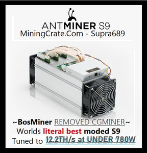 Antminer S9 Pro Tune - 17TH at 1400W Full integration of  StratumV2  CAN GO AS LOW AS 65Watt per Terahash