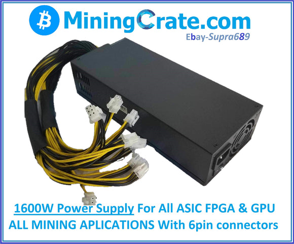 MiningCrate.com PSU 1600W 220v 6Pin ASIC Mining power supply - USA Ships NOW