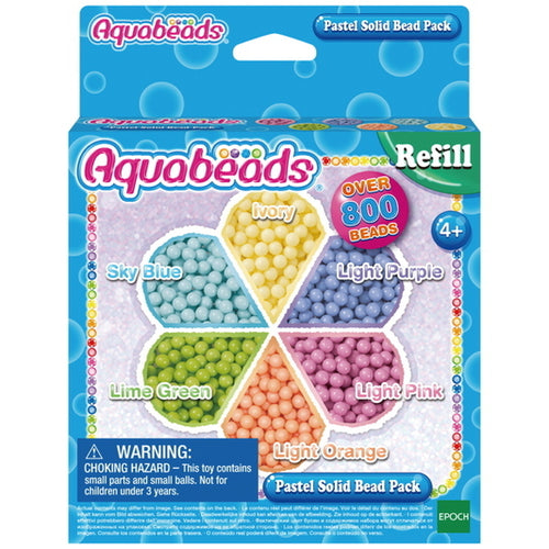 Aquabeads Refill Pastel Solid Bead Pack Recambios Pastel - Epoch 31360