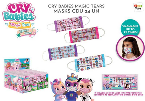 Bebés Llorones Lágrimas Mágicas, Cry Babies Magic Tears, Mascarilla FFP2 - IMC Toys 81987