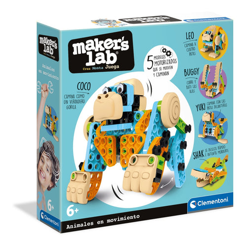 Maker's Lab Animales con Movimiento - Clementoni 55374