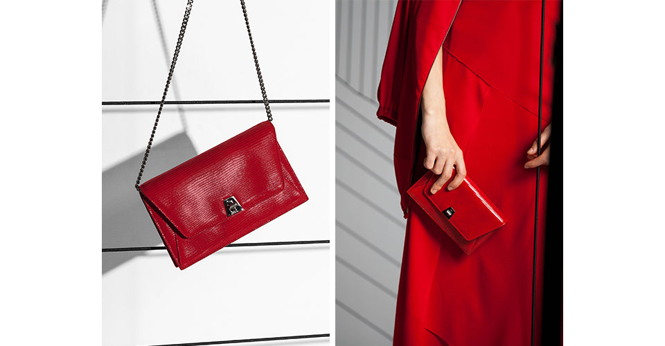 Red Dress And Anouk Bag