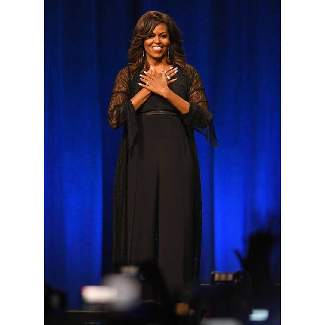 Michelle Obama wearing Akris
