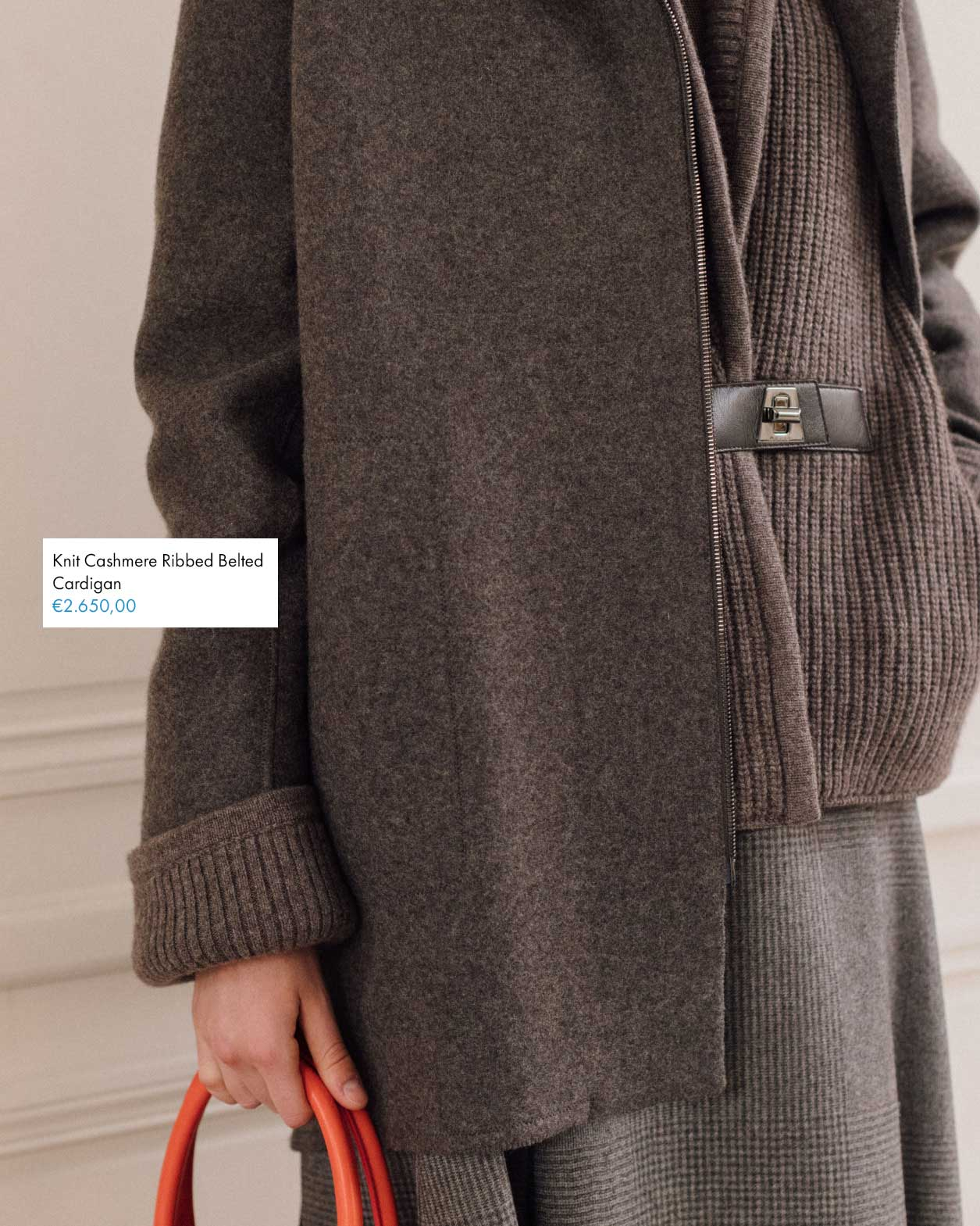 Herbst Winter Cardigan Taupe