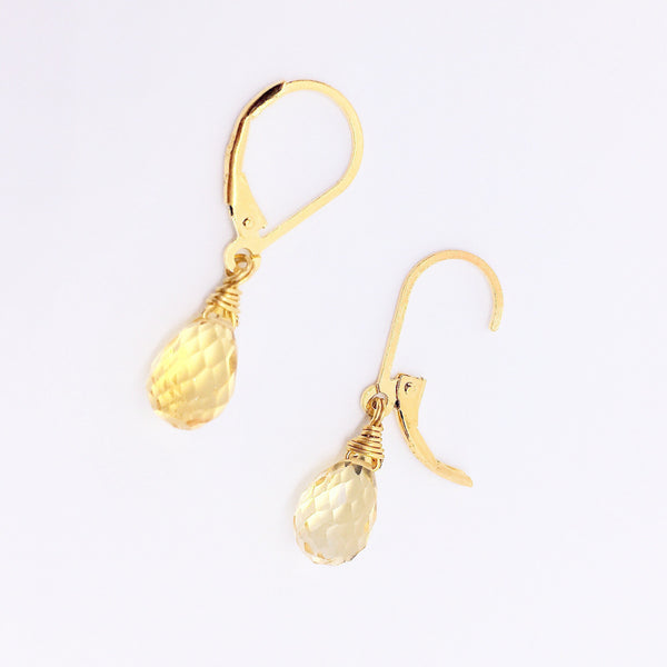 """Generosity"" Citrine Gold Plated Silver Earrings"