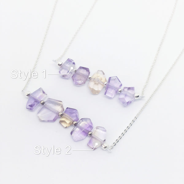 """Valacirca"" Ametrine Sterling Silver Necklace"