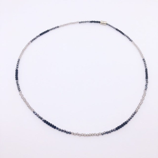 """Chrysler"" Dainty Gemstone Beaded Choker Necklace"