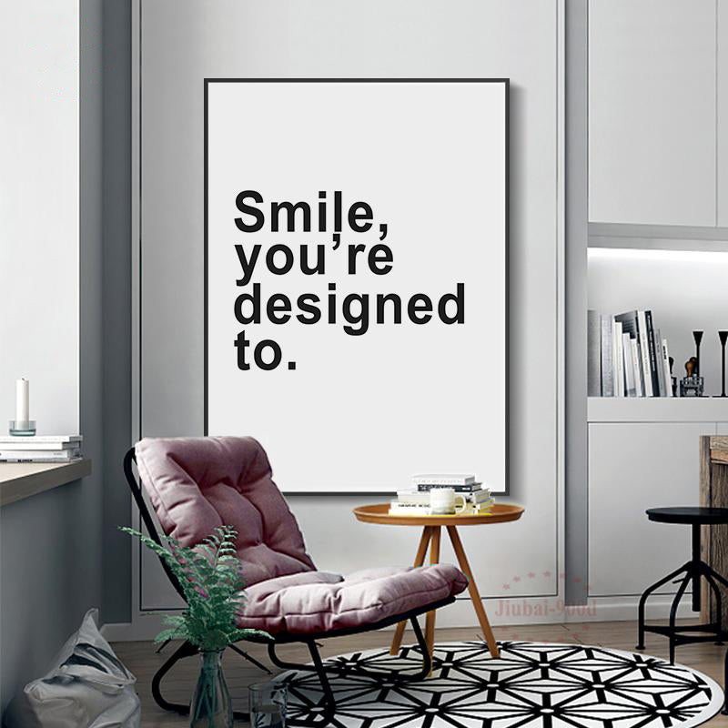 Nordic Canvas 'Smile' - Decolovers