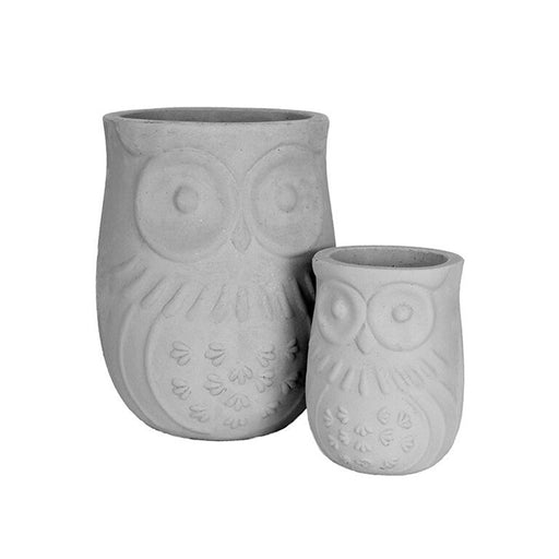 MetroLite Owl Planter Grey SET2