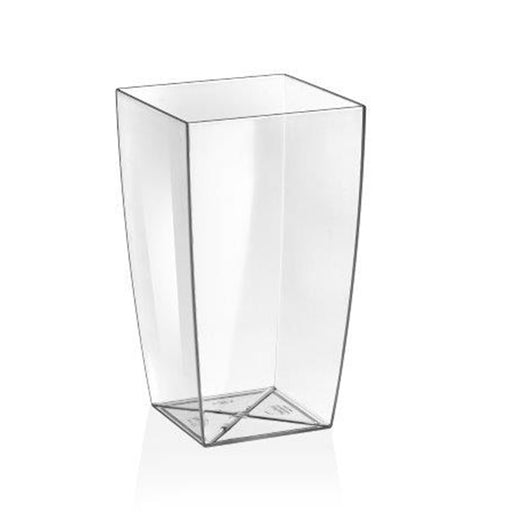 EcoPlast Tapered Square Clear 15x26cm
