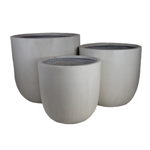 GardenLite Egg Planter LightGrey SET3