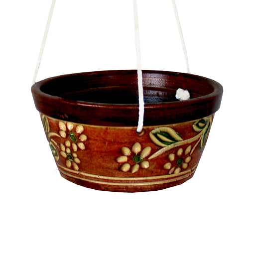 Lampang Daisy Hanging Bowl with Rope 38x18cm