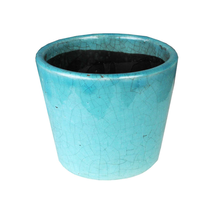 Tang Antique Cover Pot Rustic Blue 12x10cm