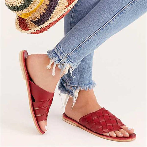 Women Stylish Woven Beach Slippers