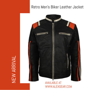 Retro Motorcycle Jacket Men in Leather