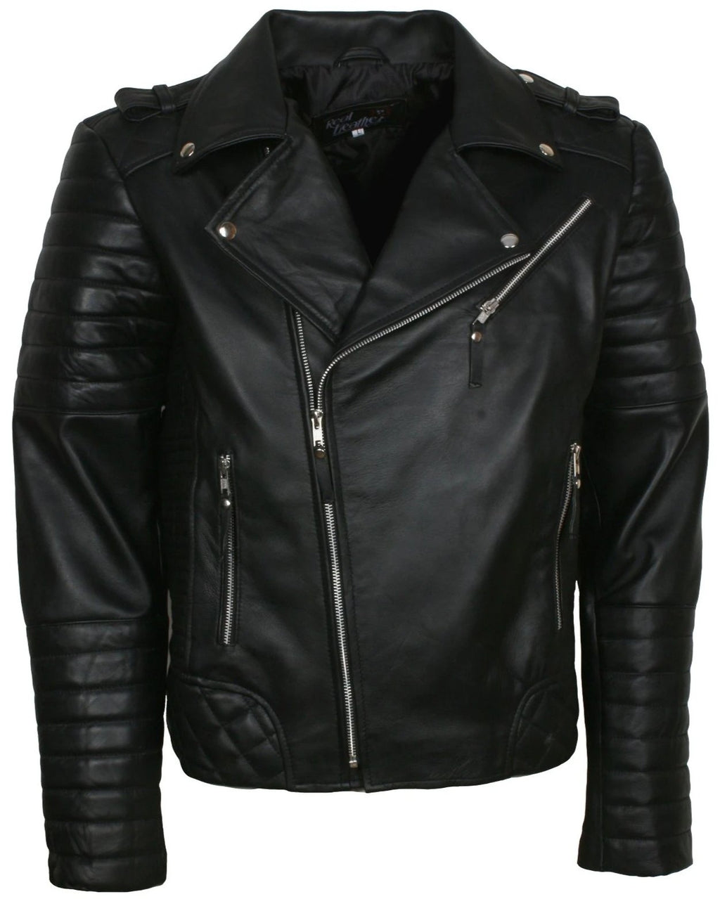 Black Boda Motorcycle Jacket Mens