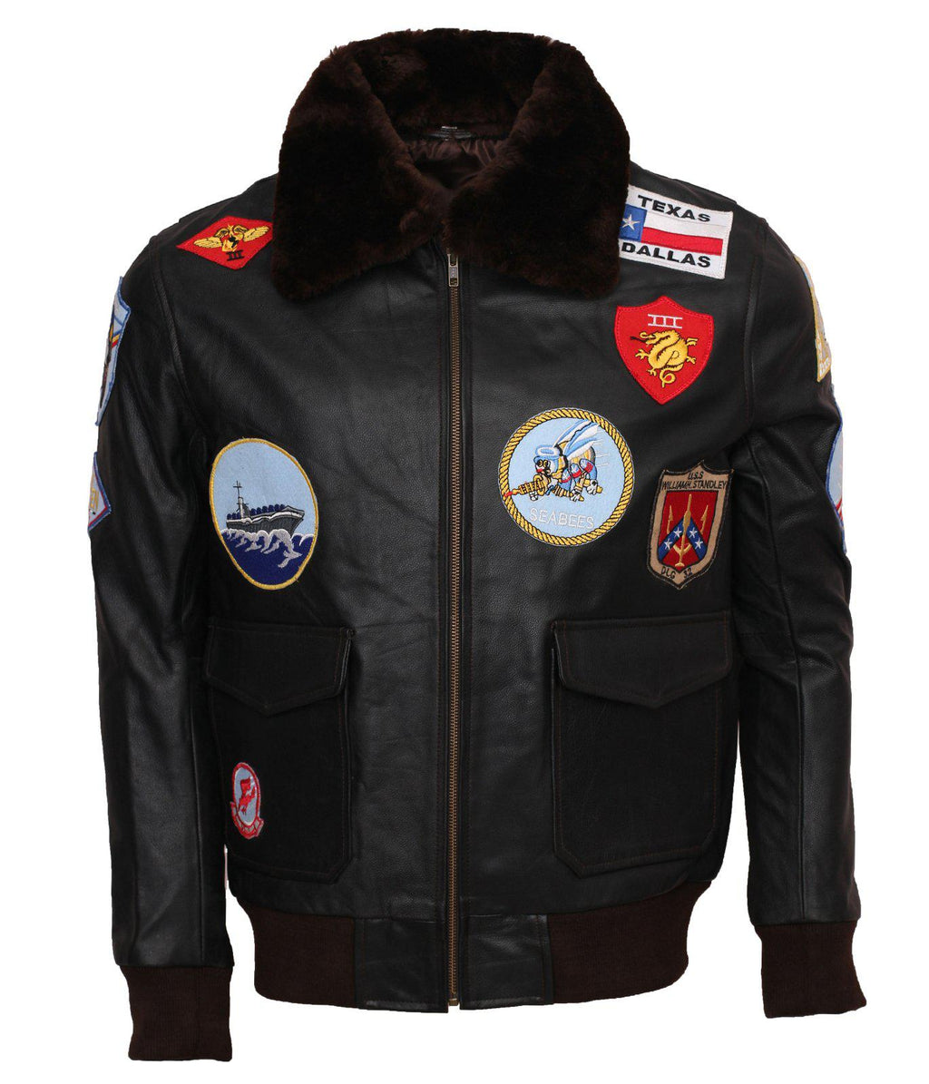 Tom Cruise Top Gun Leather Jacket