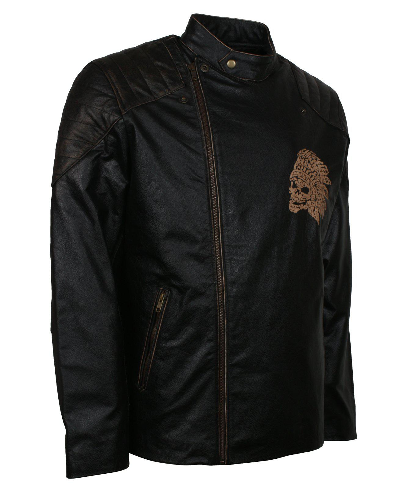 Skull Engraved Padded Jacket for Men