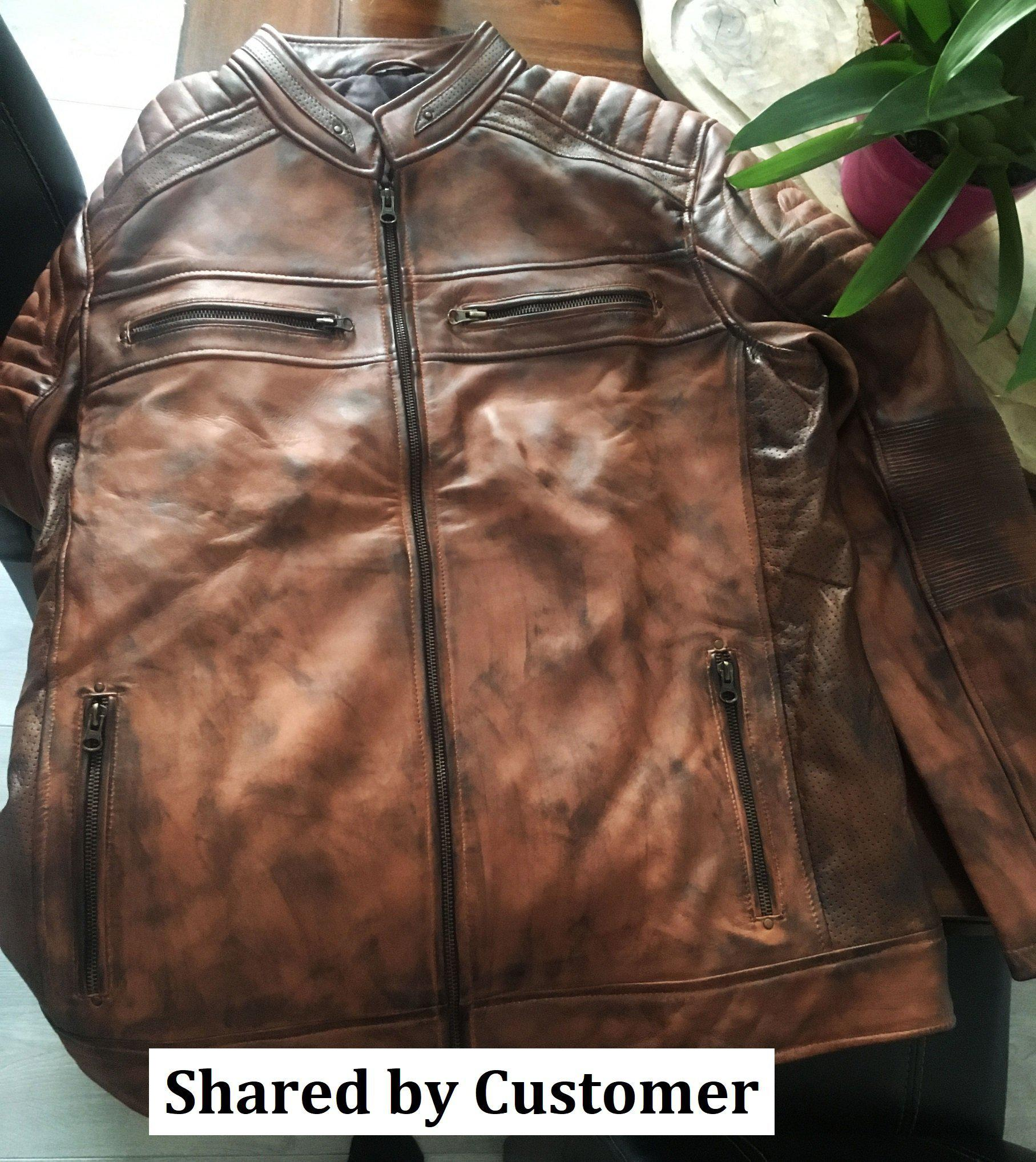 Brown-Leather-moto-cafe-racer-genuine-leather-jacket-hand-waxed-customer-share