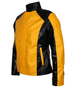 Cole Macgrath Infamous 2 Game Yellow and Black Leather Faux PU Synnthetic Jacket