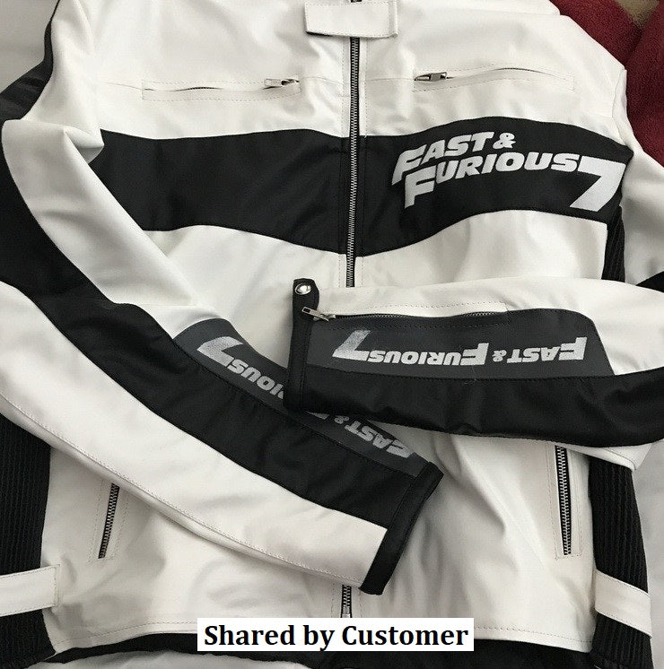 Customer Share Fast and Furious 7 Rider Mens Biker Leather Jacket