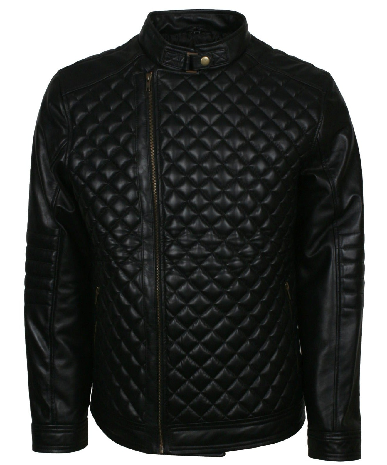 Diamond Quilted Jacket Mens New Look