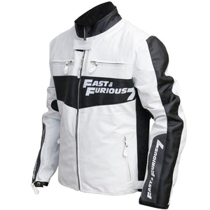 Fast and Furious 7 Vin Diesel Dominic Toretto  Rider Mens Biker Leather Jacket