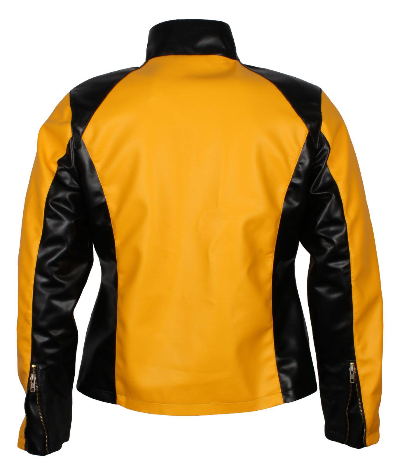 Infamous 2 Cole Macgrath Cosplay Costume Jacket  Leather Black and Yellow jackets