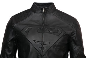 Clark Kent Black Smallville Superman Leather Jacket
