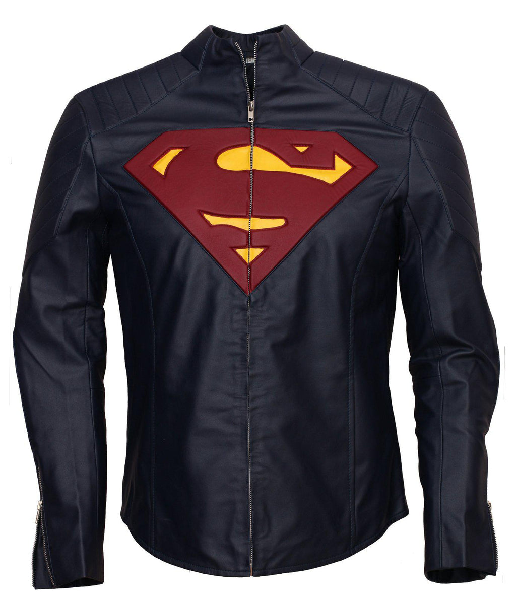 Smallville Superman Blue Leather Jacket Tom Welling