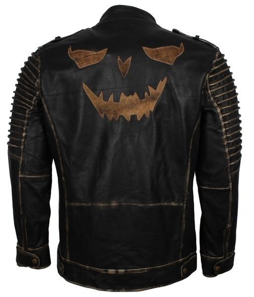 The Killing Joke Scarecrow Cosplay Moto Leather Jacket