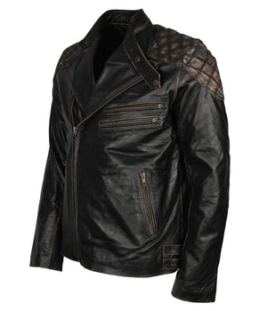 Skull Leather Jacket for Bikers