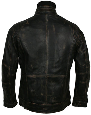 Waxed Moto Jacket Bikers In Leather