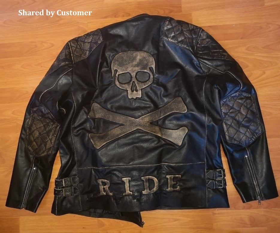 Skull Jacket in Real Leather Customer Choice