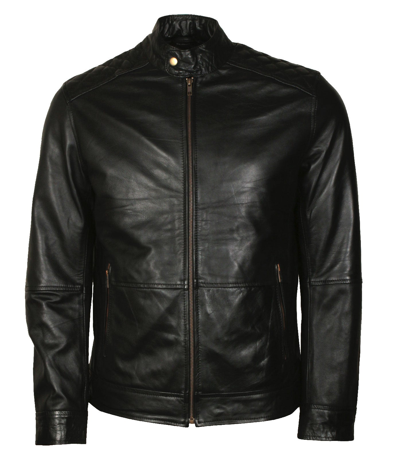 American Skull Leather Biker Jacket