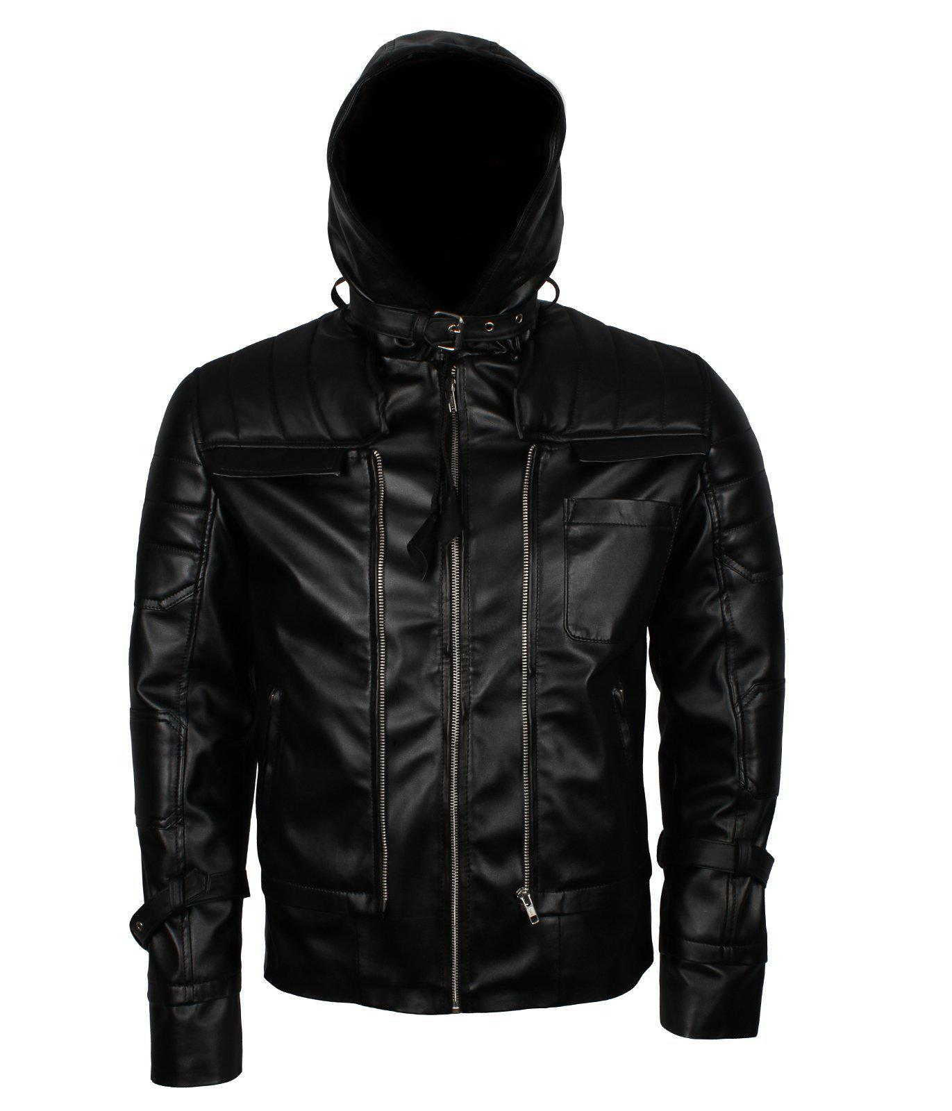 Batman Beyond Hooded Leather Jacket