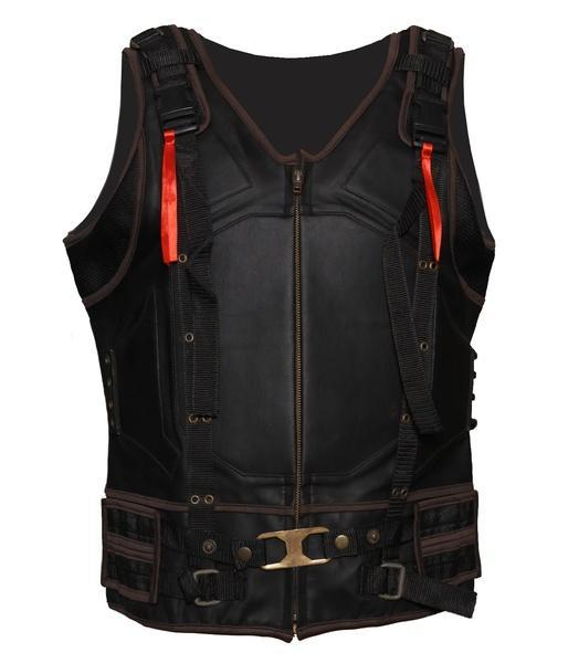 Bane Leather Vest Men