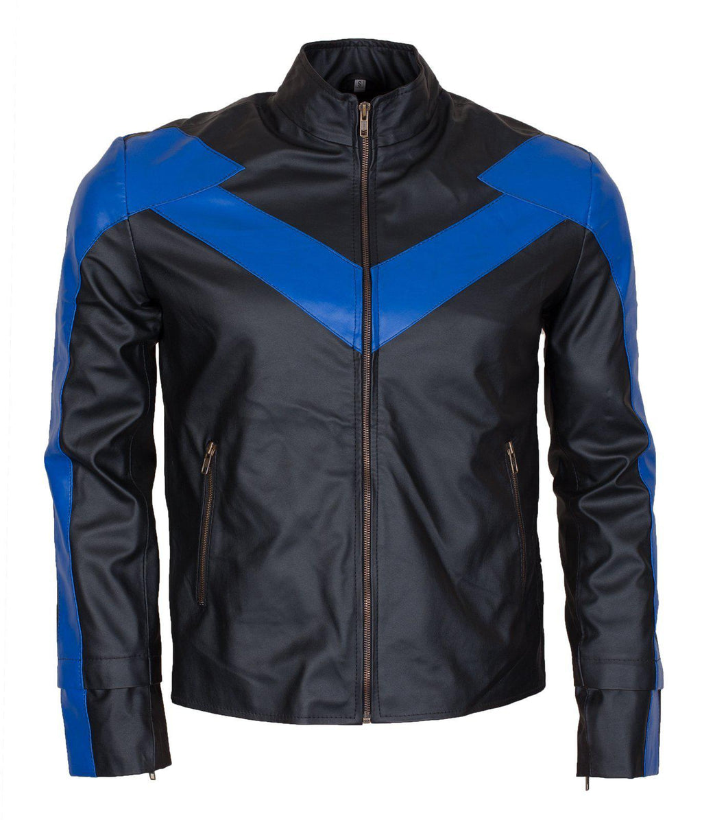 Nightwing Leather Jacket - Robin Cosplay