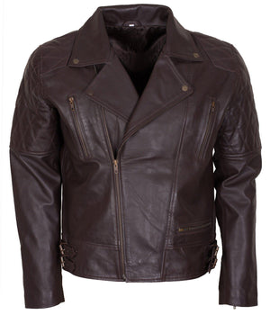 Dark Brown Motorcycle Jacket