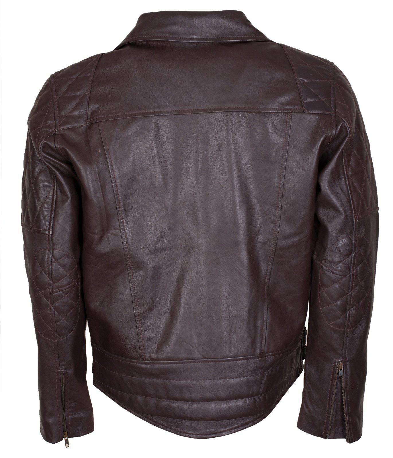 Diamond Pattern Leather Jacket